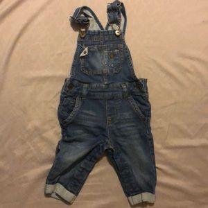 Genuine kids by Osh Kosh jean overalls (12M)